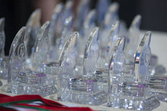 Many sports awards on World Open Minsk 2013. Minsk, Belarus Stock Photo