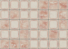 Many square ceramic tile with picture. pattern texture Royalty Free Stock Photos