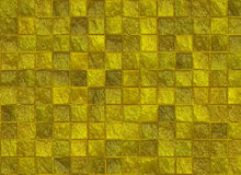 Many square golden tile pattern texture Royalty Free Stock Photography