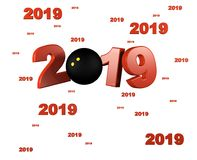 Many Squash ball 2019 Designs. With a White Background vector illustration