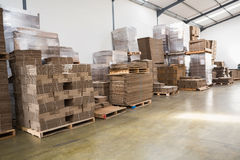Many stack of cardboard boxes Stock Images