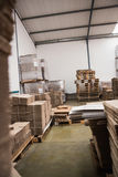 Many stack of cardboard boxes Royalty Free Stock Photography