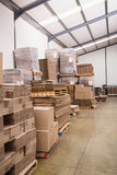 Many stack of cardboard boxes Royalty Free Stock Images