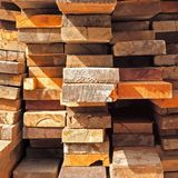 Many Stacked Boards Stock Image