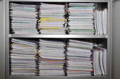 Many stacks of folders Stock Image