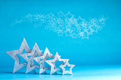 Many stars silver white blue Stock Images