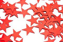 Many stars on white Stock Photos