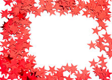 Many stars on white Royalty Free Stock Photo