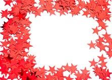 Many stars on white Royalty Free Stock Photo