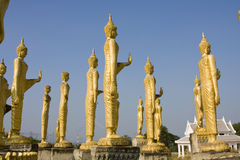 Many statues of Buddha Stock Photos
