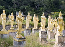 Many statues of Buddha Stock Photography