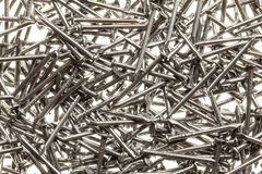 Many steel nails Stock Photos