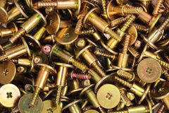 Many steel screws Royalty Free Stock Photography