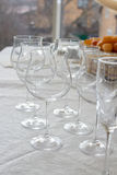 Many stemware glass Stock Photo