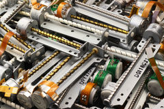 Many stepper motors from floppy and cd dvd drives. Royalty Free Stock Image
