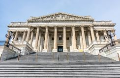 Many Steps Lead to the United States House of Representatives. This staircase leads to the United States House of Representatives on Capitol Hill in Washington Stock Image