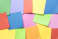Many sticker notes use for background Royalty Free Stock Image