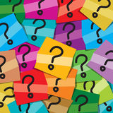 Many sticky notes with questions mark Stock Photography