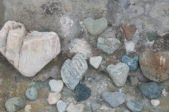 Many stone hearts Royalty Free Stock Image