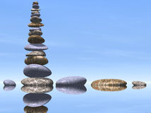 Many Stones In The Water Royalty Free Stock Photos