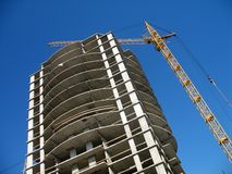 Many-storied construction Stock Images