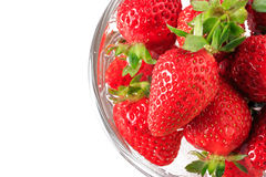 Many strawberry in the glass bowl Royalty Free Stock Photography