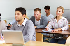 Many students learning in class Royalty Free Stock Photos