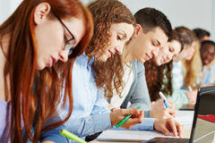 Students learning in school class Royalty Free Stock Photography