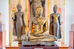Many styles of Buddha statue in the old historical national musuen in Ayudhaya, Thailand February 15, 2018. Photo of Many styles of Buddha statue in the old stock photo
