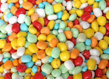 Many sugary candy and chewy for sale in candy stall in the local Royalty Free Stock Images