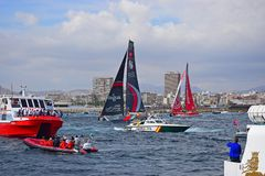 Crowded Seas Volvo Ocean Race Alicante 2017 Stock Images