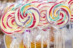 Many sweet and colorful candy placed for sale Royalty Free Stock Photography