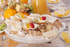 Many sweets and desserts Stock Photos