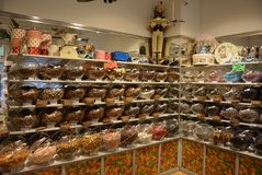 Swedish Sweet shop. So many sweets in one city. chocolate, sweet and sour. All help yourself stock photo