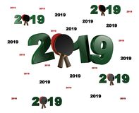 Many Table Tennis 2019 Designs with many Racket Stock Images