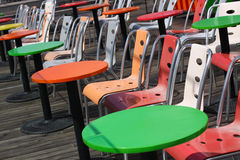 Many tables and chairs Royalty Free Stock Photo
