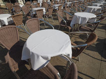 Many tables and chairs Royalty Free Stock Images