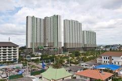 Many tall building and city around Stock Photo