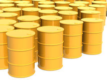 Many tanks of yellow color Royalty Free Stock Images
