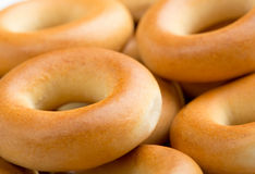 Many tasty bagels Stock Photos