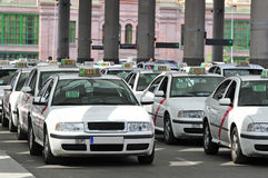 Many taxis waiting for passenger Stock Photography