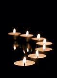 Many tea candles Royalty Free Stock Image