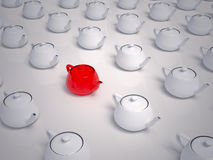 Many Teapots - Which to Choose Stock Photo