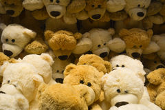 Many teddy bears for children. Featured many teddy bears for children royalty free stock image