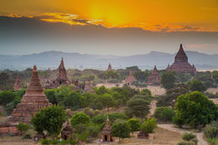 Many temples in Bagan Area Royalty Free Stock Photos