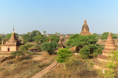 Many temples in Bagan on sunny day Stock Image