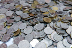Many of Thai Baht Coins background Stock Photos