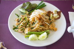Many Thai food, buffet in luxury restaurant Stock Images