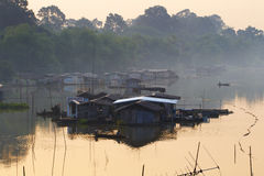 Many thai house boat Stock Photography