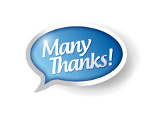 Many thanks message bubble illustration design Stock Photo